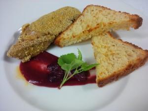 foie gras e ciliegie